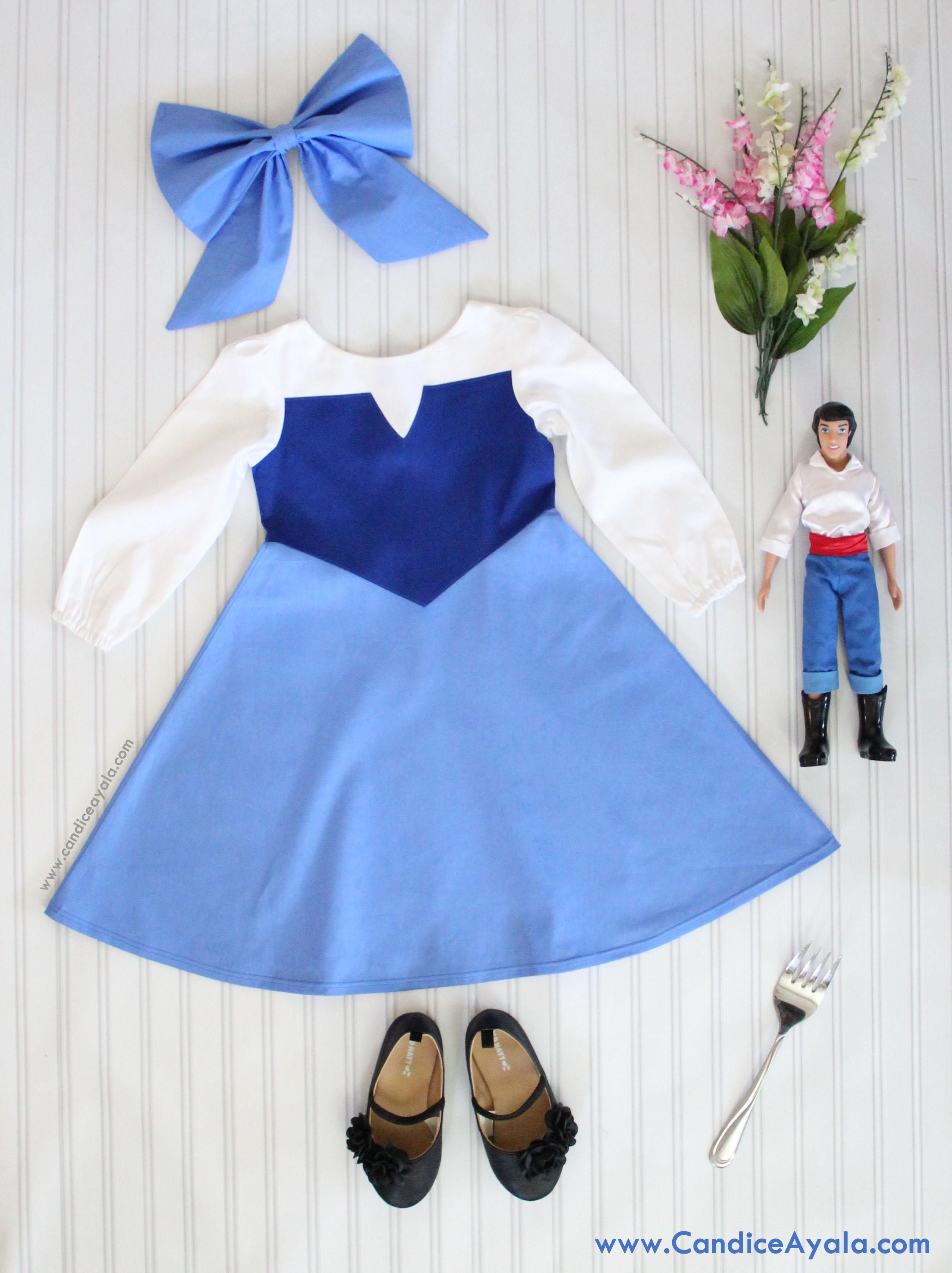 Diy ariels blue dress candice ayala arielbluedress solutioingenieria Image collections