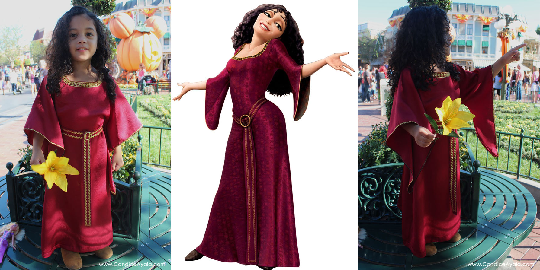 mothergothelcollage  sc 1 st  Candice Ayala & Halloween at Disneyland 2015 u2013 DIY Mother Gothel Costume | Candice Ayala