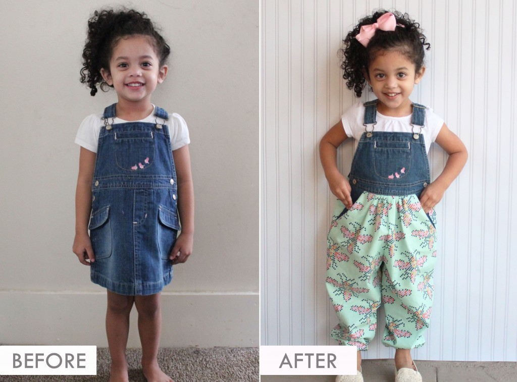 DIY UPCYCLE - Skirt Jumper to Bubble Pants Jumper