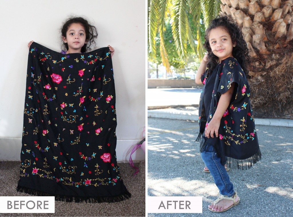 DIY KIMONO - Adult Skirt to Toddler Kimono