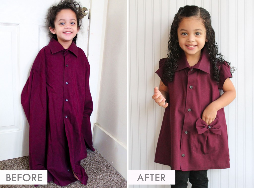 DIY UPCYCLE - Adult Work Shirt to Toddler Tunic
