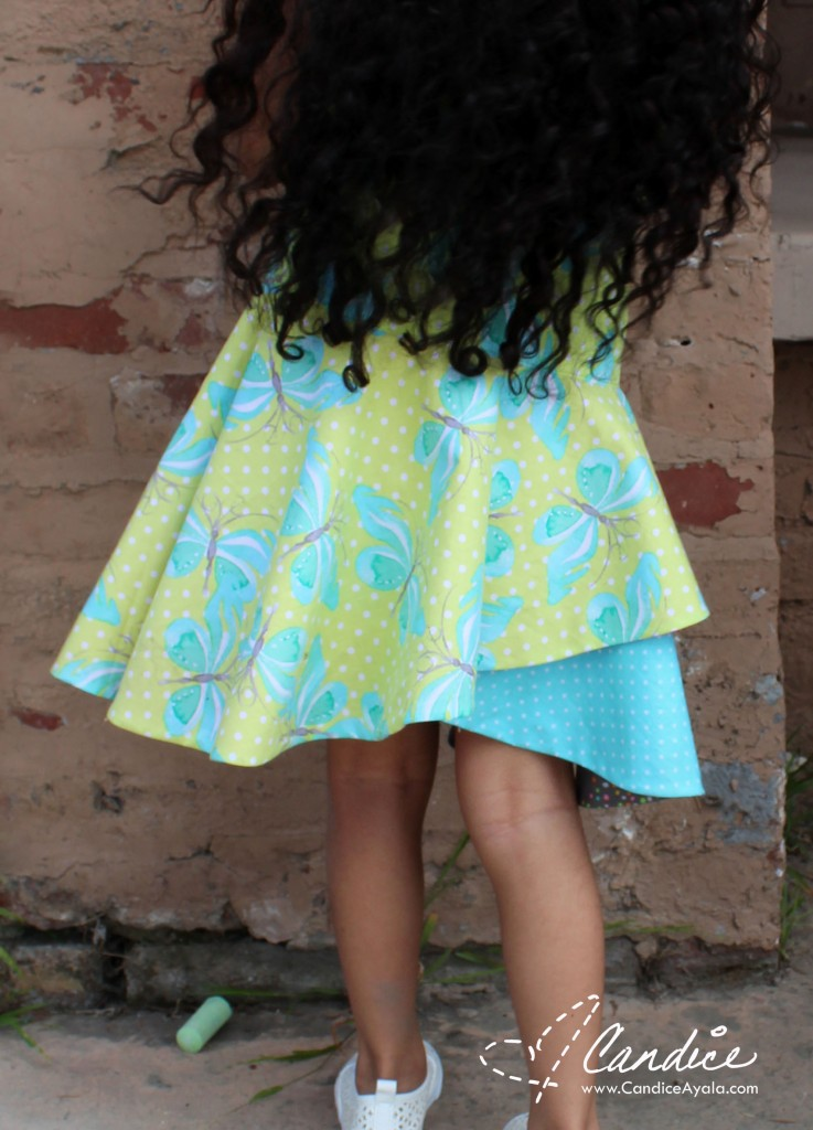 The Cross Over Flounce PDF Sewing Pattern by Call Ajaire Sewn by Candice Ayala