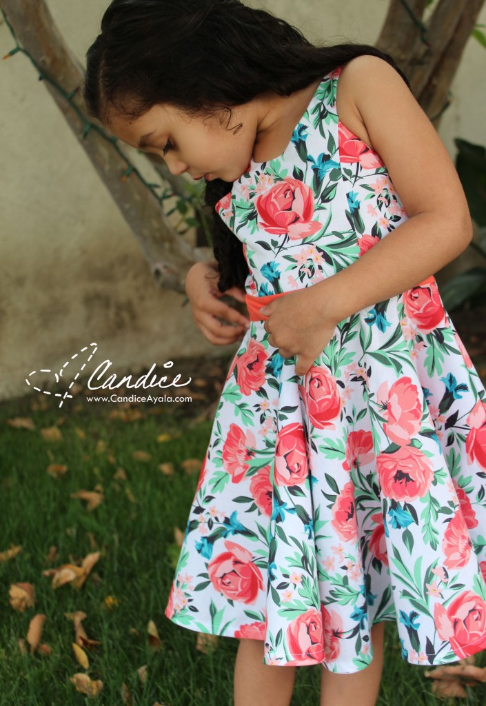 The Holly Dress PDF Sewing Pattern by Bubby and Me Creations featured on www.CandiceAyala.com
