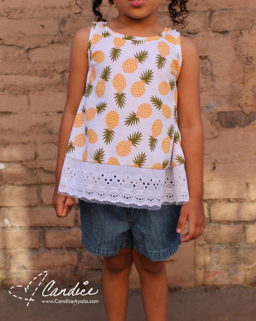 Key West Tank (girls) PDF Sewing Pattern by New Horizons Designs Sewn by Candice Ayala of CandiceAyala.com