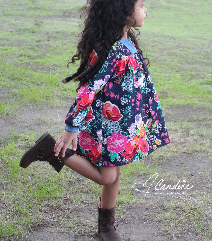 The Boho Tunic and Dress PDF Pattern by Peach Patterns sewn by Candice Ayala