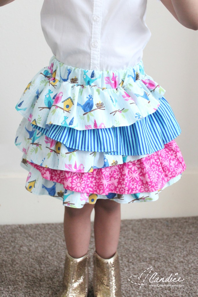 The Lala Skirt PDF Sewing Pattern by Bubby & Me Creations sewn by Candice Ayala of CandiceAyala.com for OT14 Blog Tour