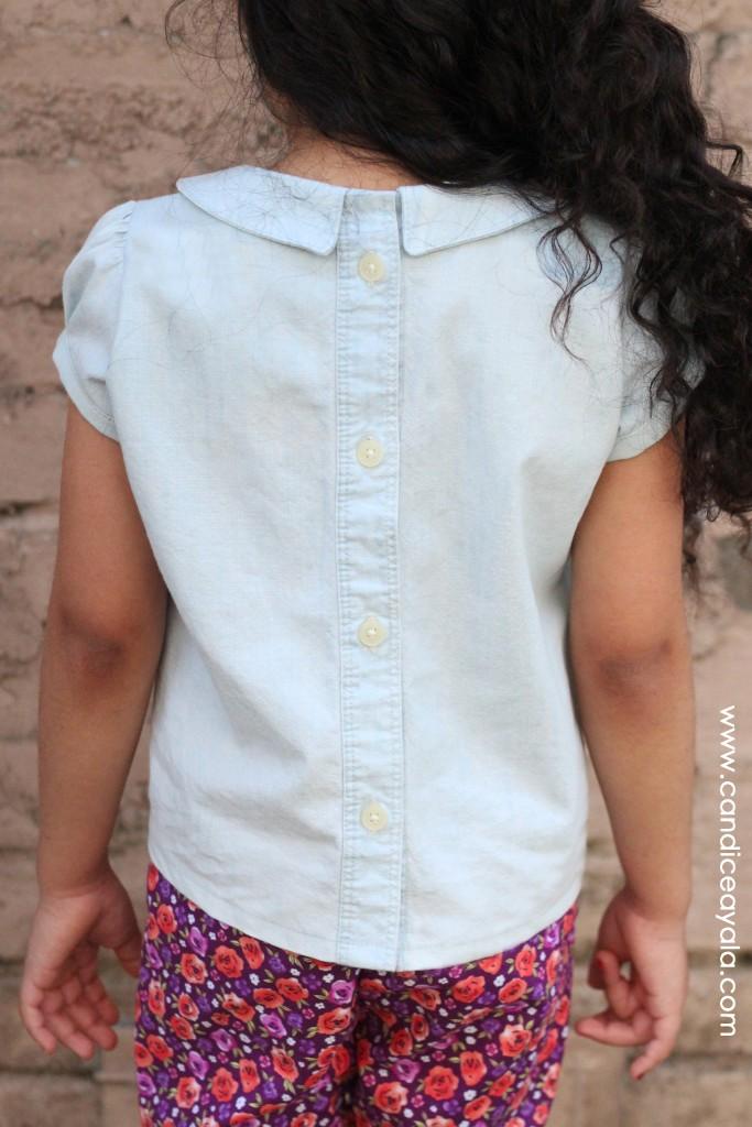 The Phillipa Blouse PDF Sewing Pattern By Bobkin Designs sewn by Candice Ayala of CandiceAyala.com