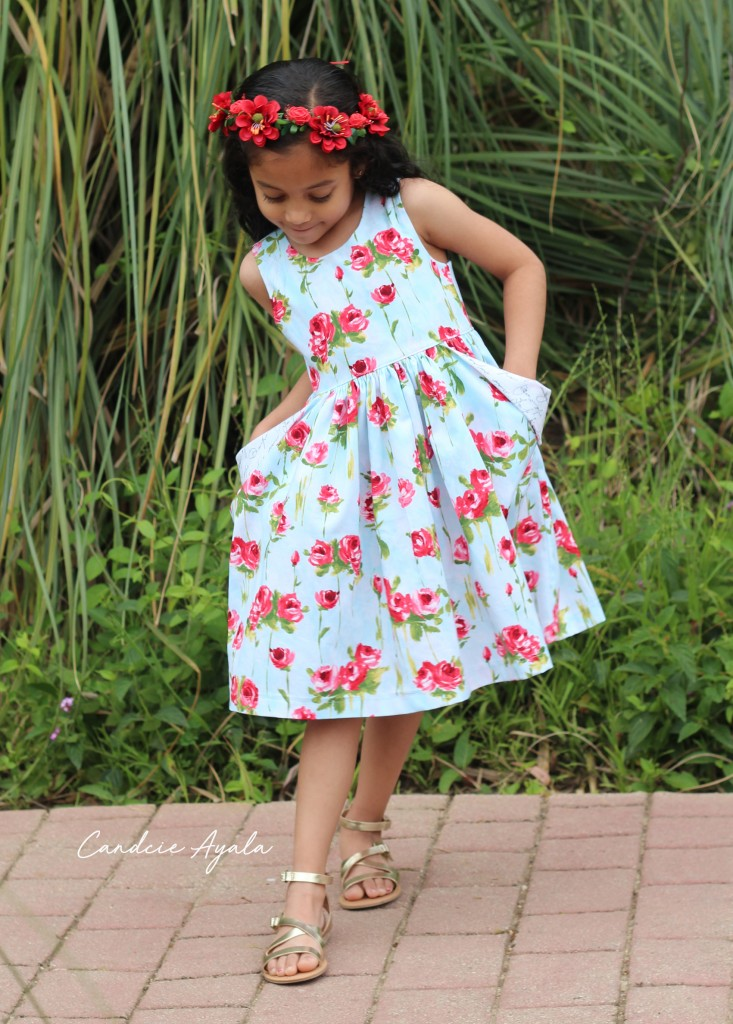 The Newport Pocket Dress PDF Pattern by The Simple Life Pattern Company Sewn by Candice Ayala