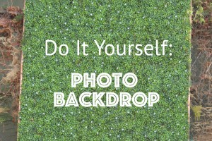 DIY Photoback drop