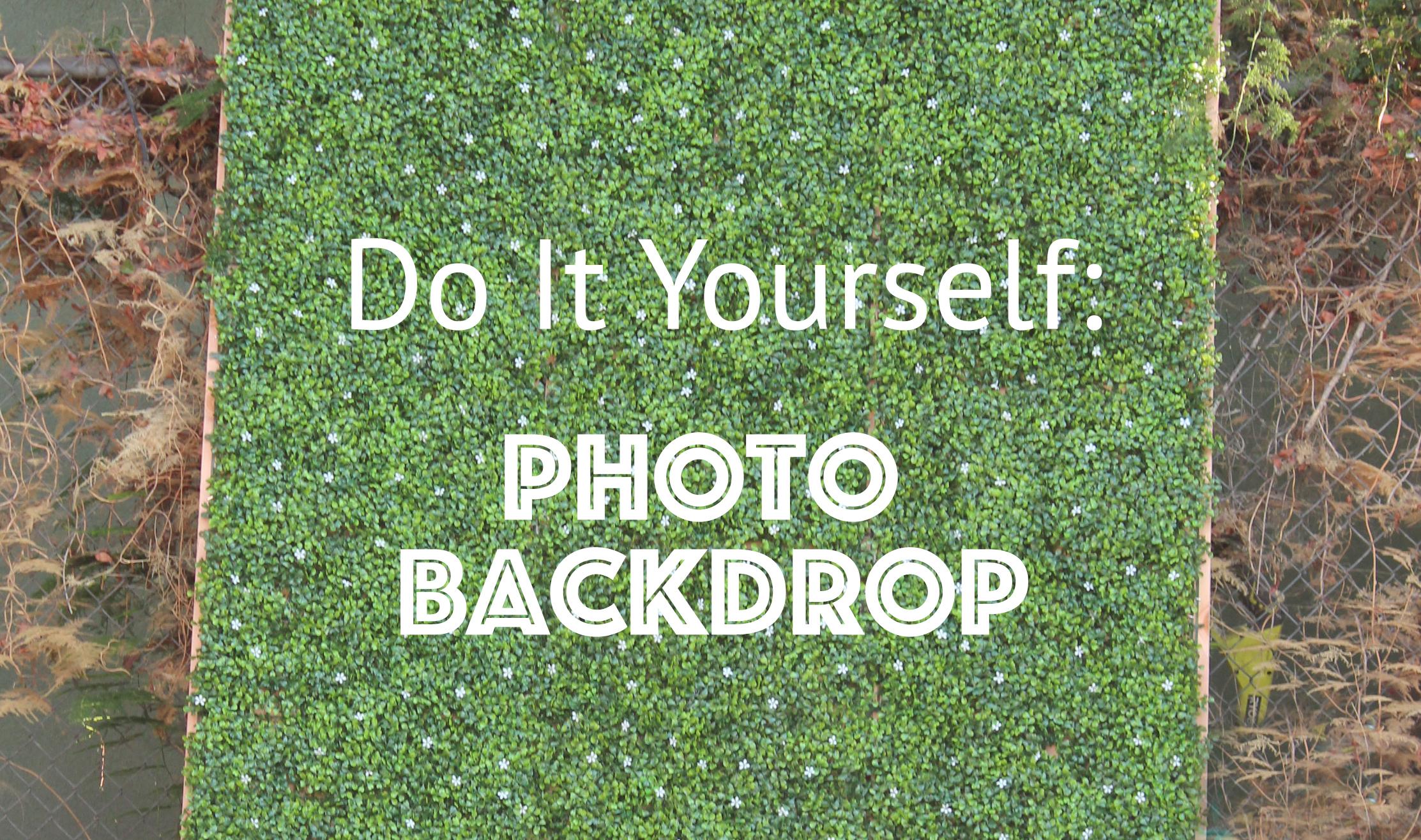 DIY Photoback drop