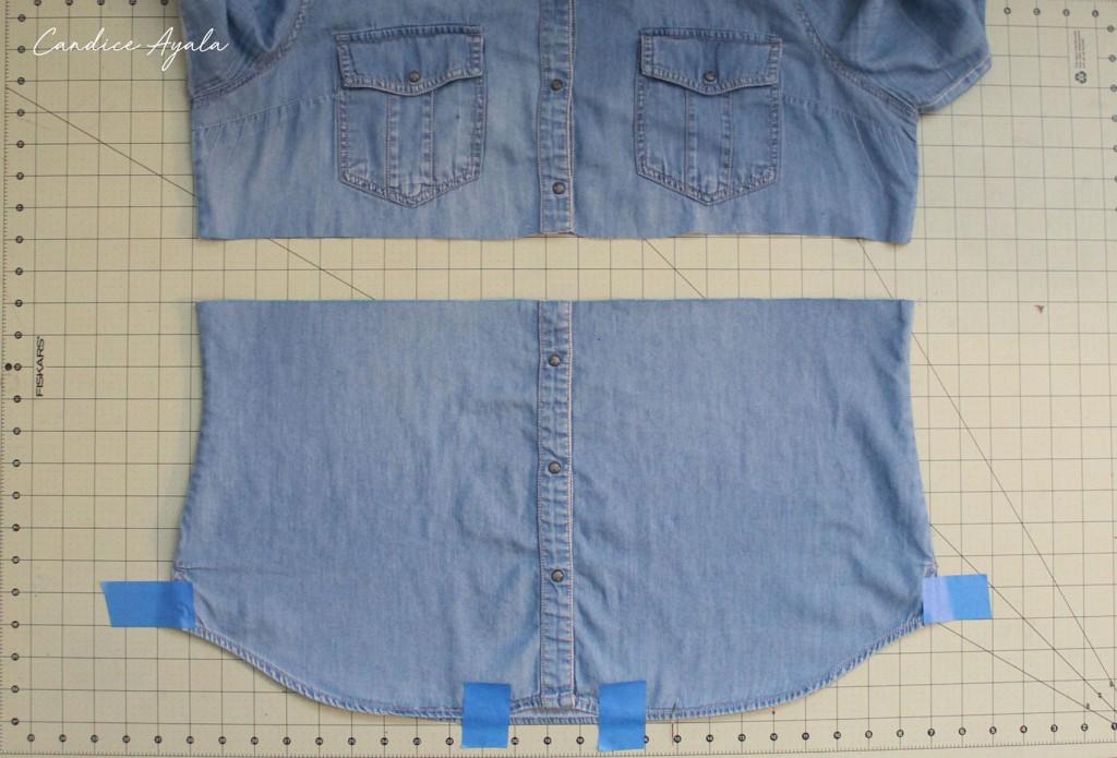 DIY Upcycled Shirt to Skirt Tutorial by Candice Ayala