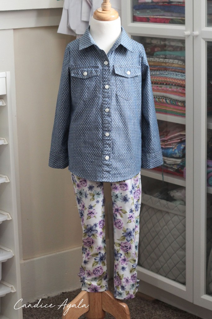DIY Adult Clothing to Childs Top and Pants by Candice Ayala
