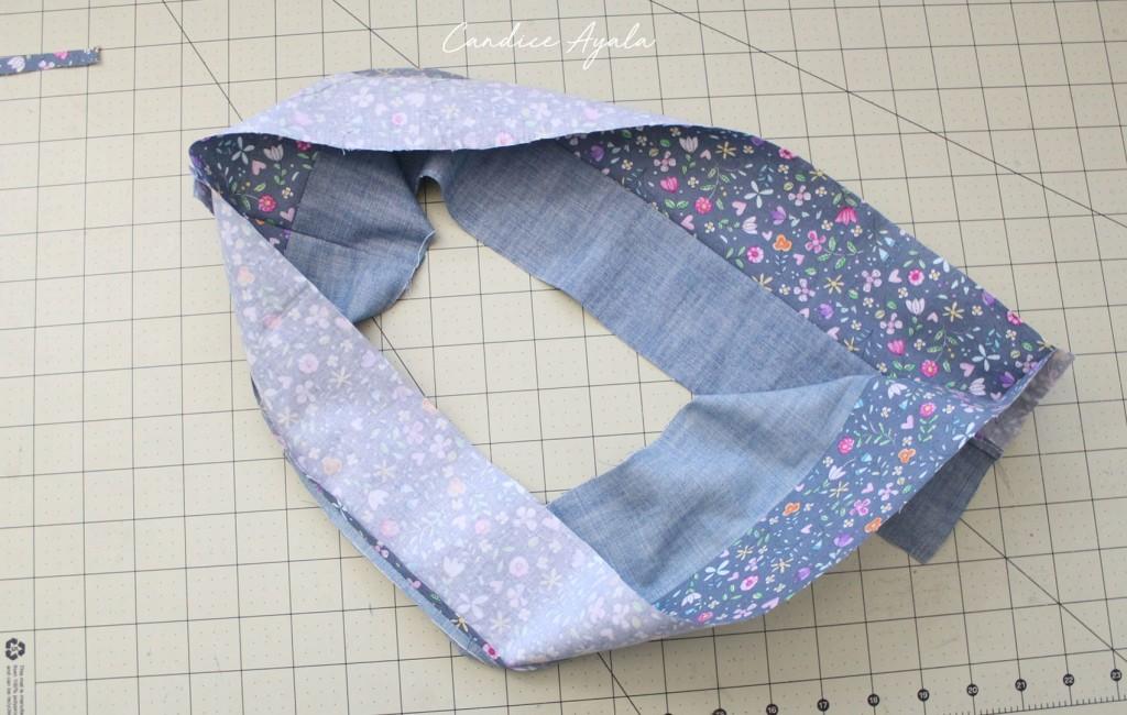 DIY Men's Shirt to Skirt Upcycle sewn by Candice Ayala of CandiceAyala.com