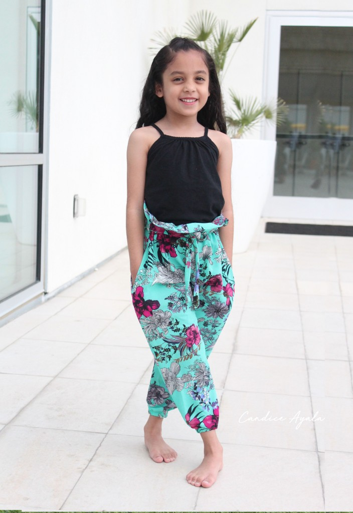 Girls Paper Bag Pants PDF Sewing Pattern sewn by Candice Ayala